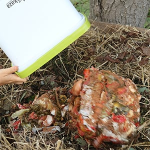empty fermented waste into your compost pile