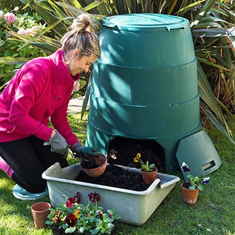 Green Johanna Composter In Use