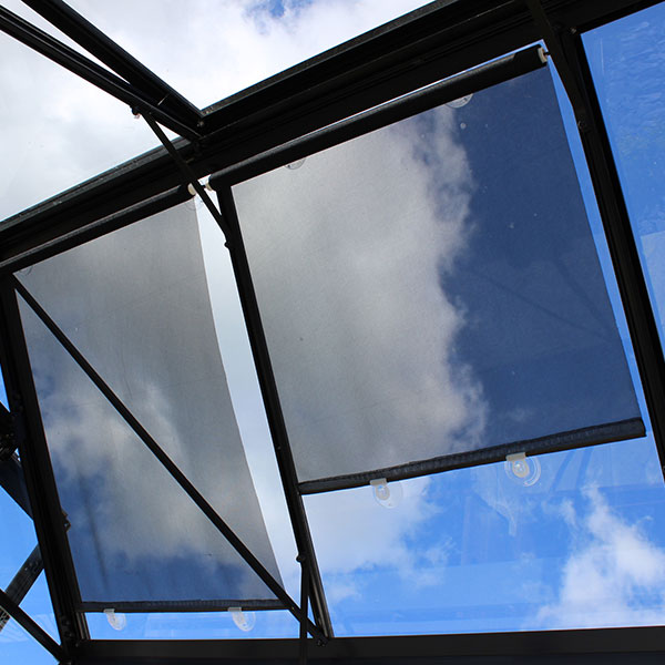 Greenhouse Shade Blinds . . . protecting plants from hot sun