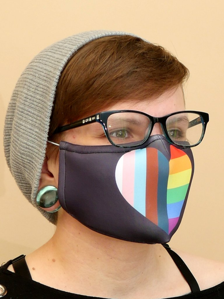 Inclusive Pride Flag Mask