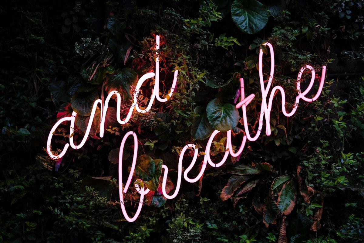 Self care deep breathing