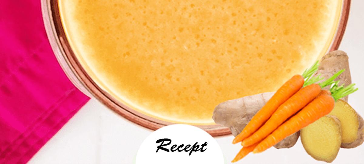 Karotten-, Ananas- und Ingwer-Detox-Smoothie