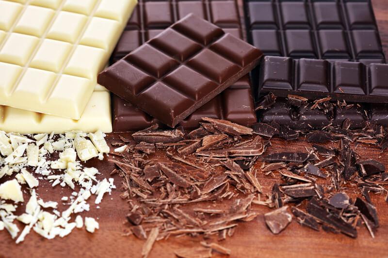 dark chocolate, milk chocolate and chocolate