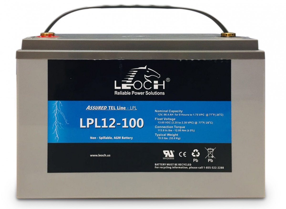 AGM Battery - Leoch Deep Cycle AGM Battery 12V 100Ah