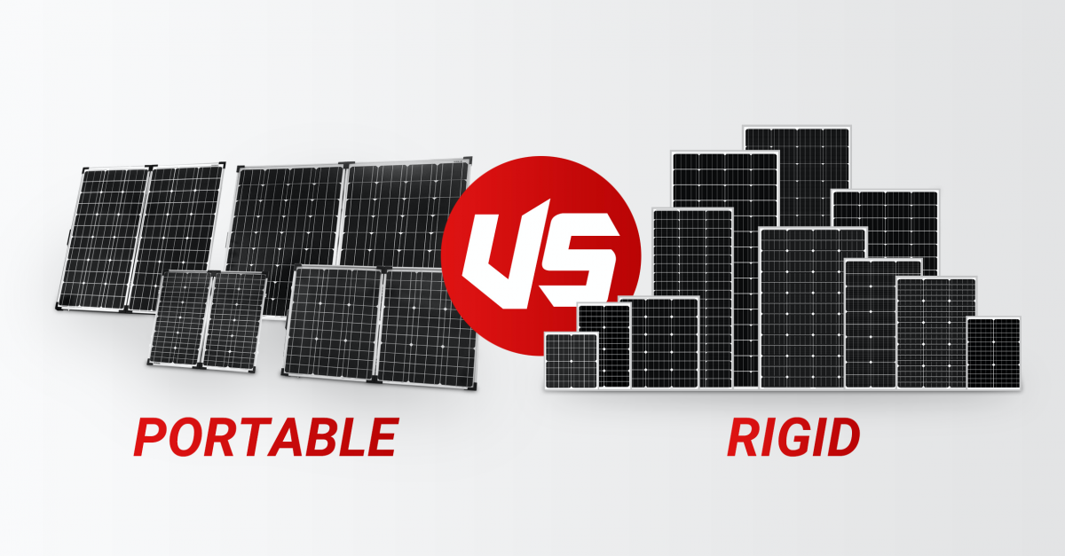 How portable solar panel differs from regular rigid one