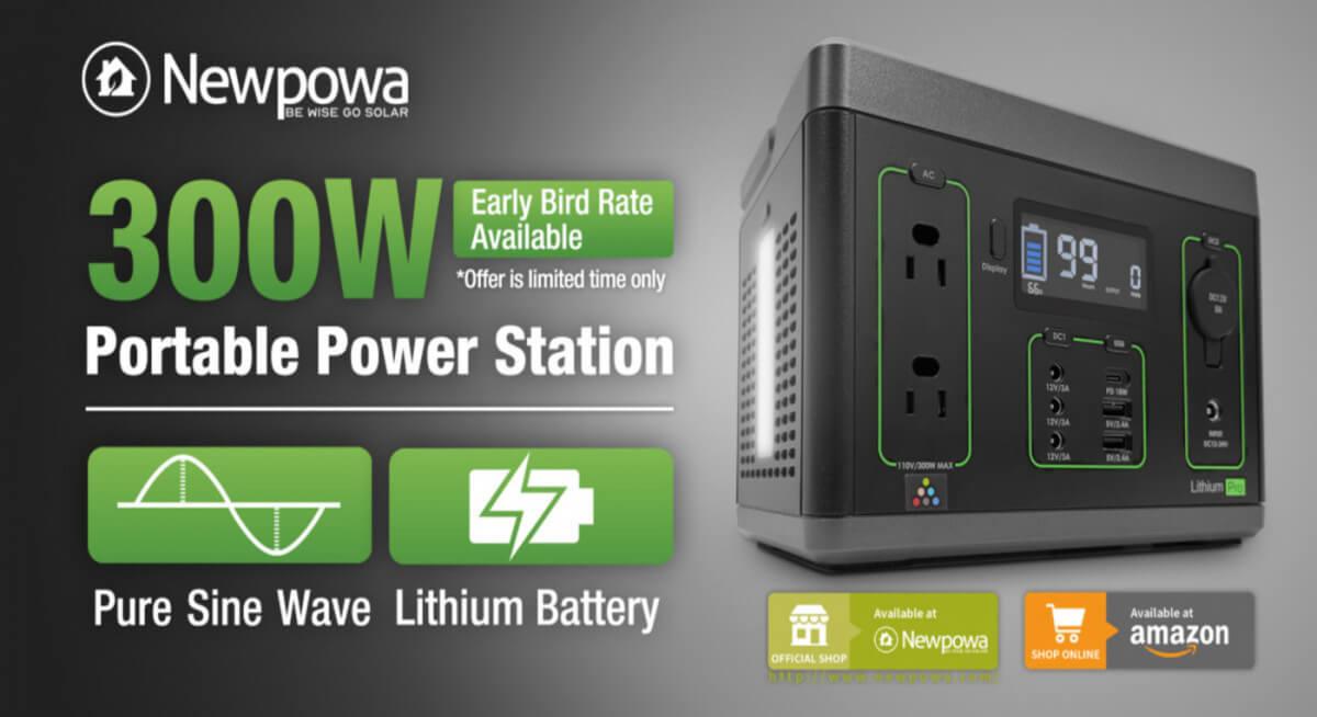 New Release - Newpowa 300W Solar Generator