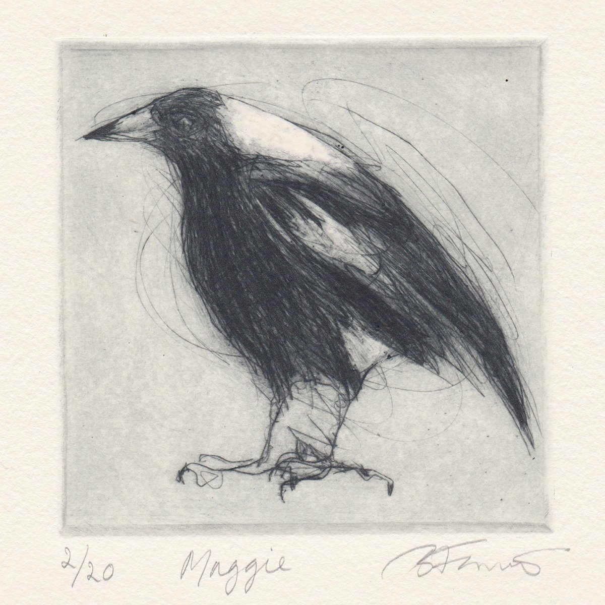 New etching - Maggie