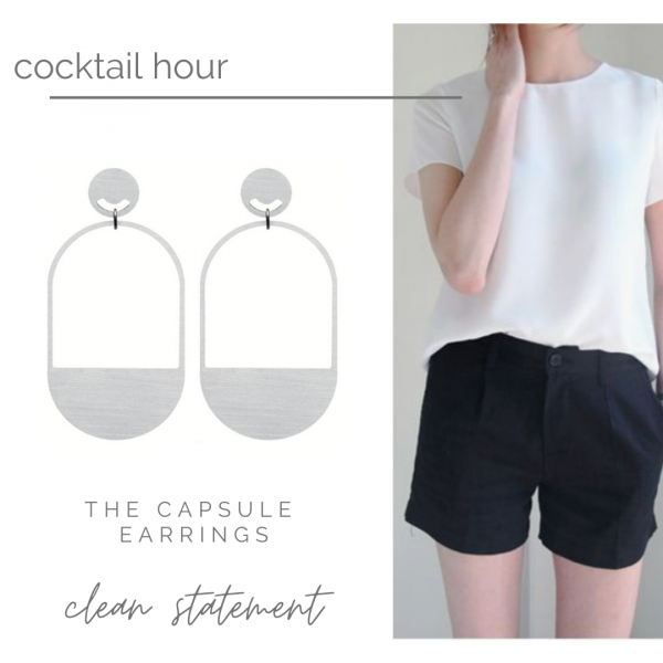 What to wear with this - Summer in the city with Capsule Earrings