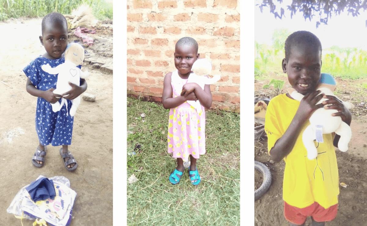 Children in Uganda with Lulla doll