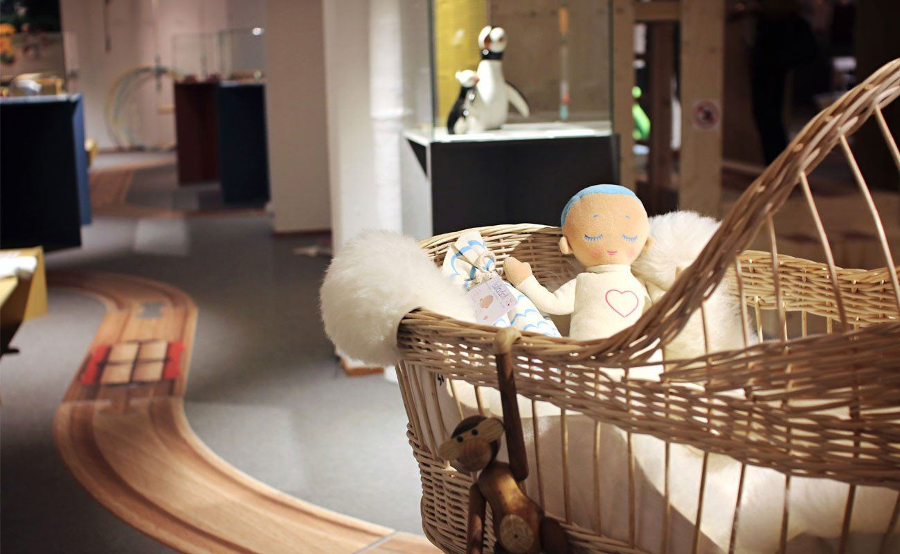 Lulla doll in a Nordic Design exhibition