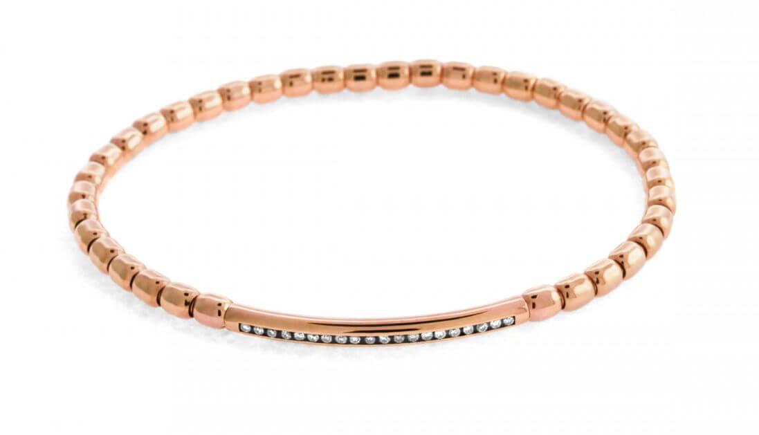Luxe White Diamond bracelet in 18k rose gold