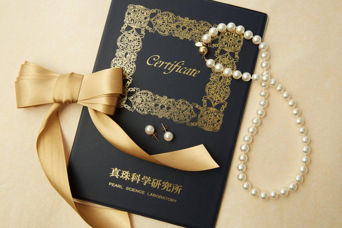 Hanadama Pearls certificate