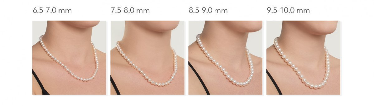 Pearl Necklace size reference