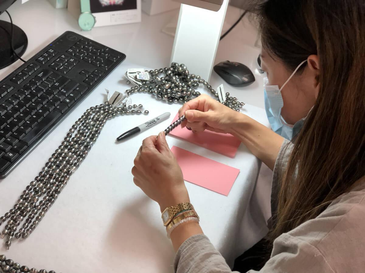 Hisano grading Tahitian Pearls