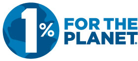 1% for the Planet logo - Cause against Plastic Pollution