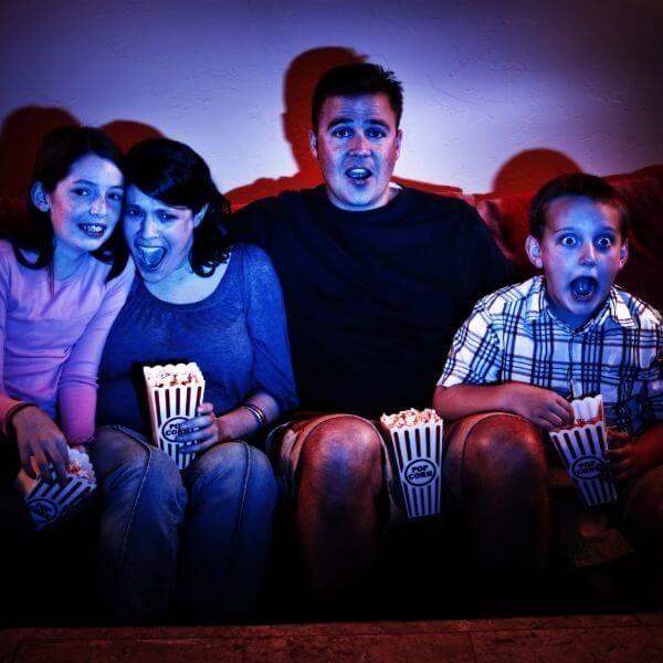 family scary movie night