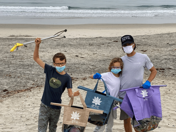 use lotus bags for beach clean ups