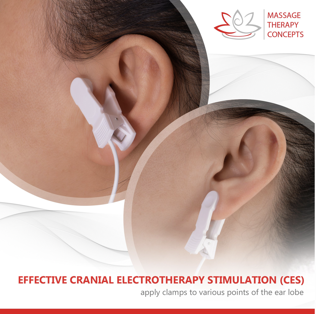 ear clip stimulators, migraine, electrical stimulation, ems, tens