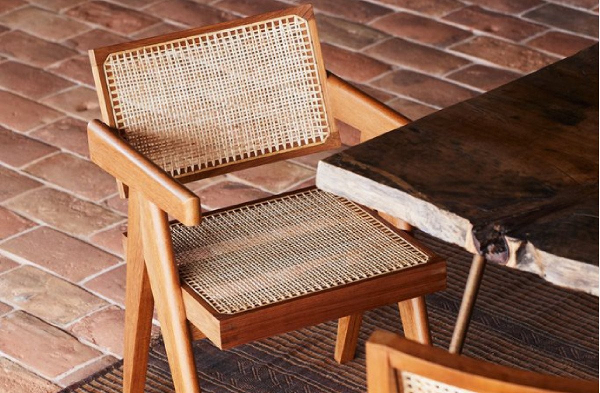 This chair is everywhere… Pierre Jeanneret and Le Corbusier Chandigarh Chair.