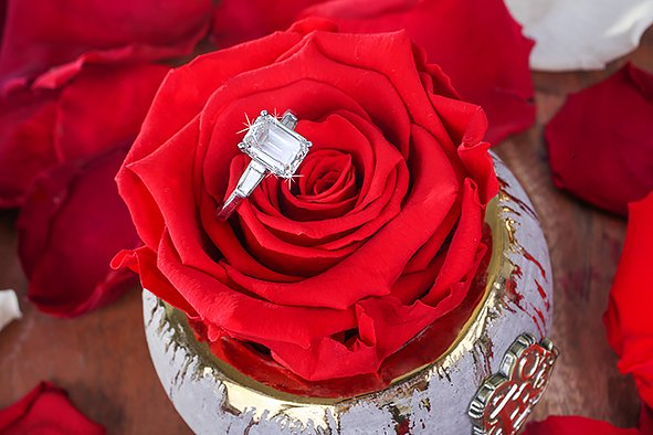 Eternal Roses are Incorporated Into A Fun And Unique Proposal
