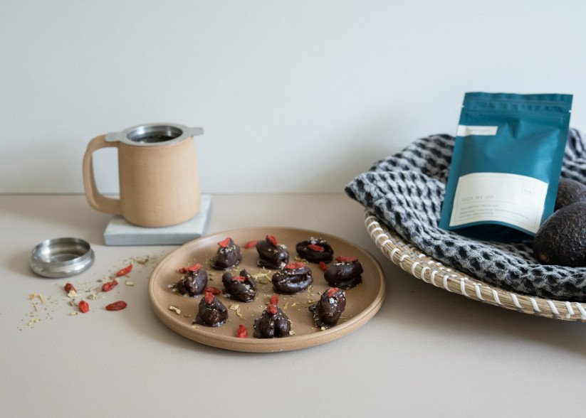 Stuffed Date Recipe: Pick Me Up Infused Chocolate Coating