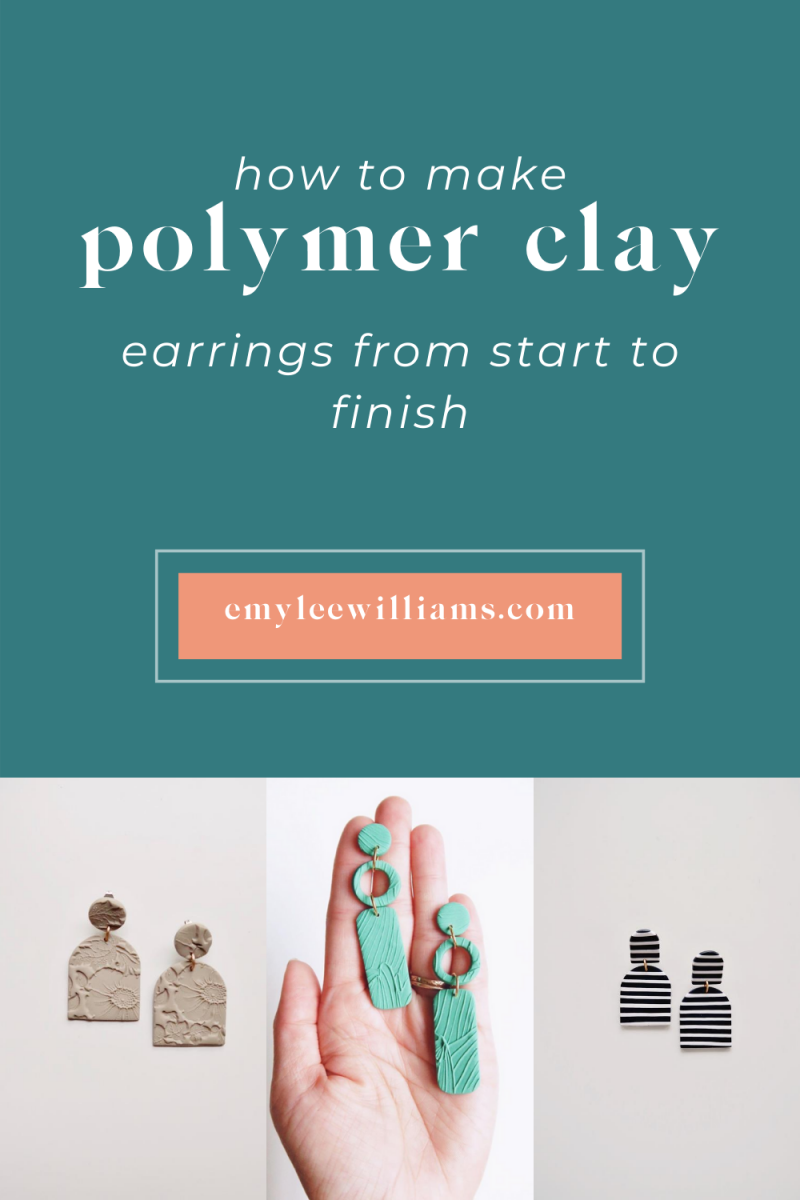 How to Make Polymer Clay Earrings | emyleewilliams.com