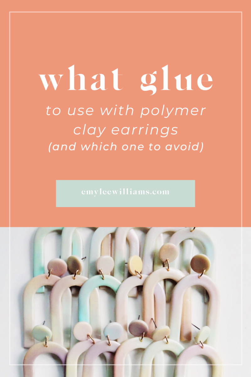 what glue to use for polymer clay earrings