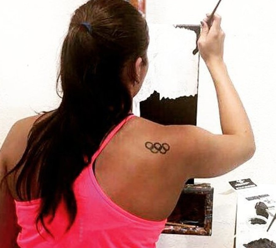 Q&A with Artist-Athlete, Olympian Valerie Gruest