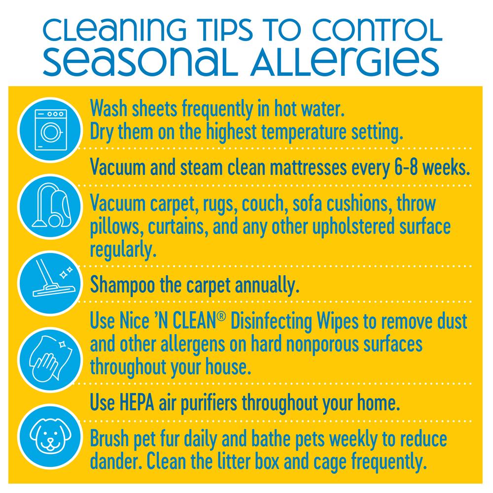 Cleaning Tips for Seasonal Allergies