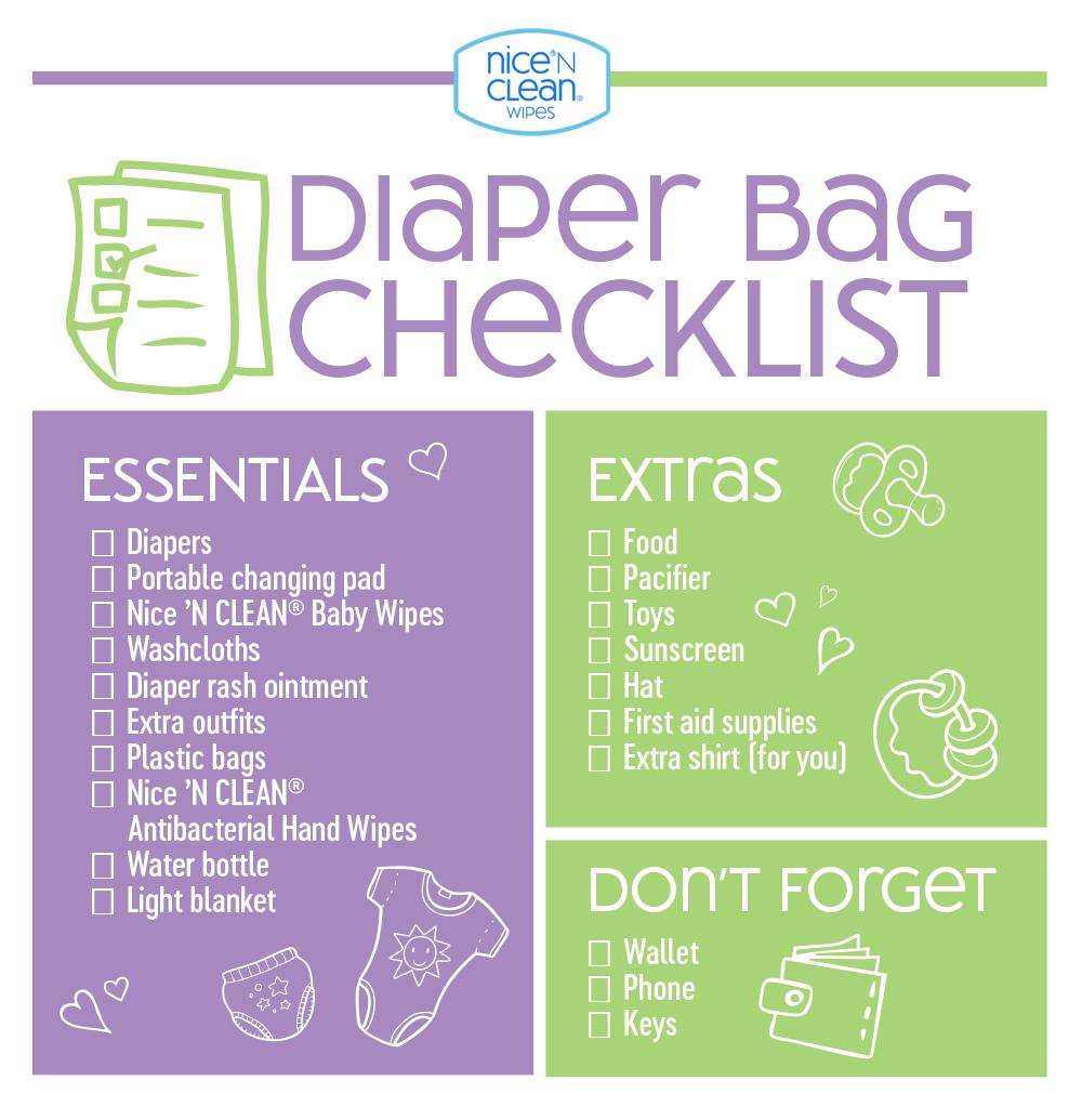 diaper bag checklist must-have essentials