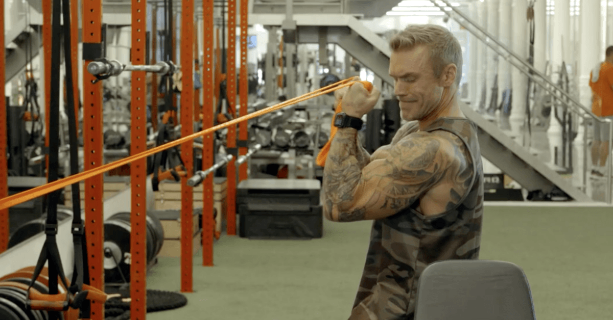 James Grage's Home Workout: Using Bands For Bigger Biceps
