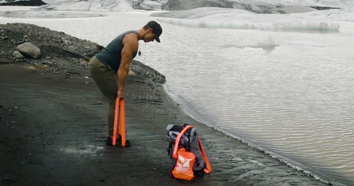 Travel Workout: Undersun Resistance Bands in Iceland