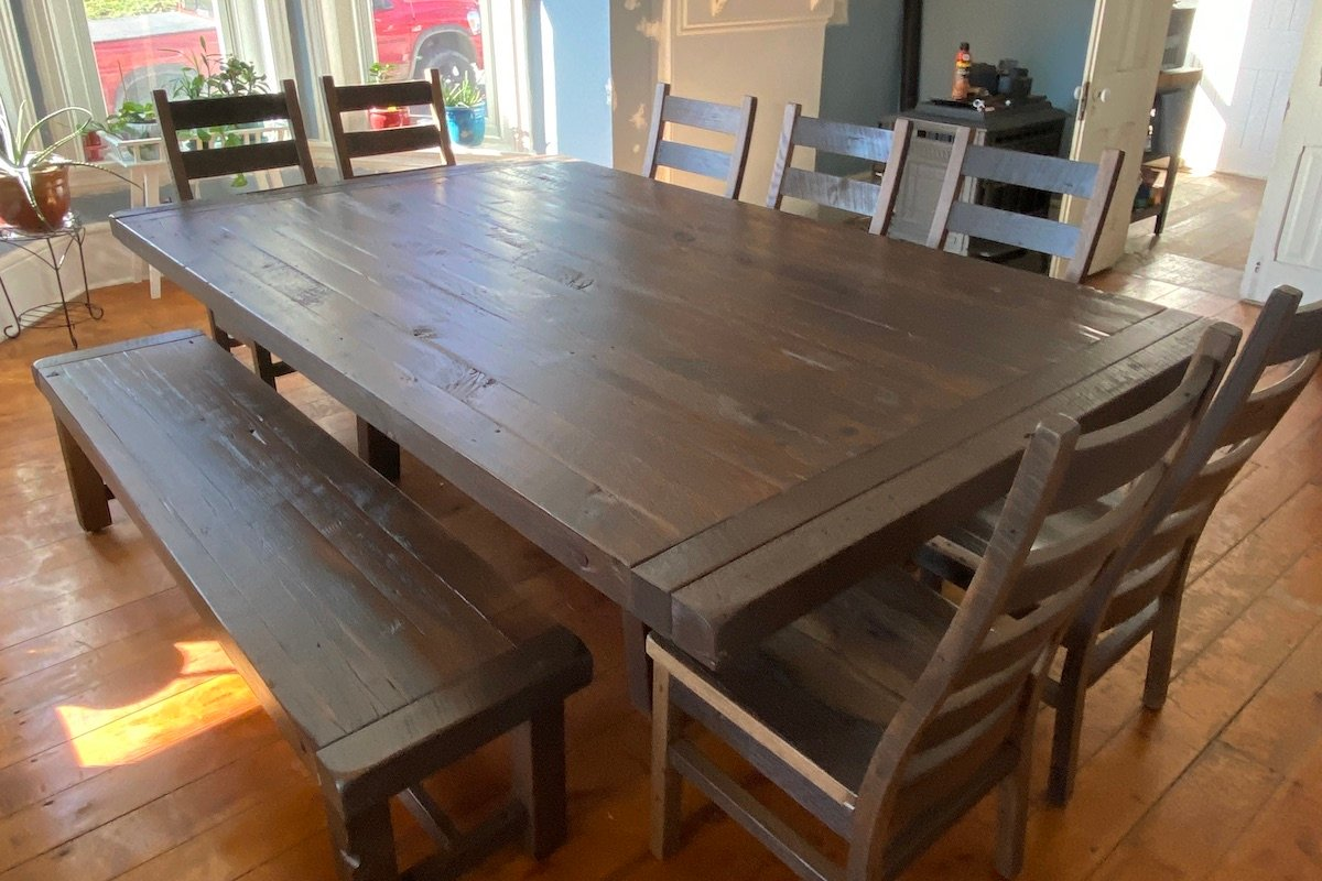 Honoring a Historic Home with a Reclaimed Table Made From It's Own Beams