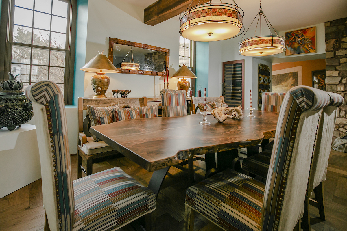 Santa Fe Inspired Rustic Dining Room