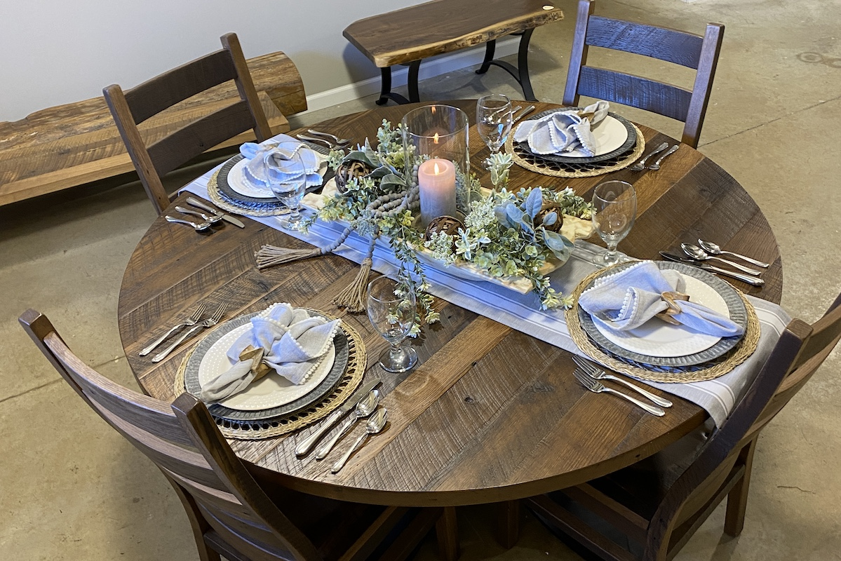 Rustic Spring Table Setting Ideas