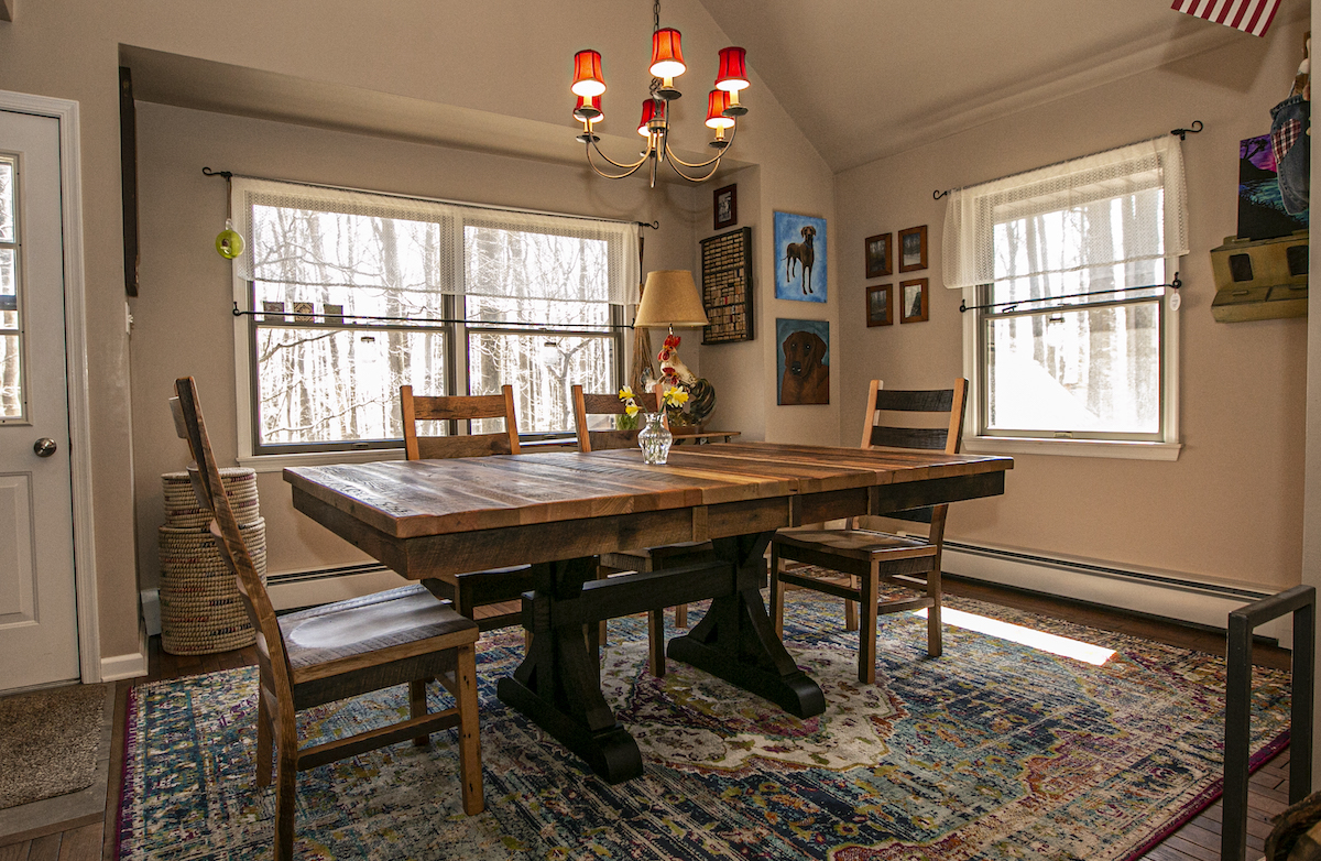 Customer Home: Pathway Extendable Reclaimed Dining Table