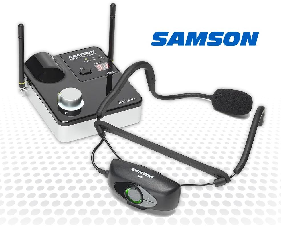 Samson's AirLine 99m - Improved Sweat-Resistance and Rechargeable