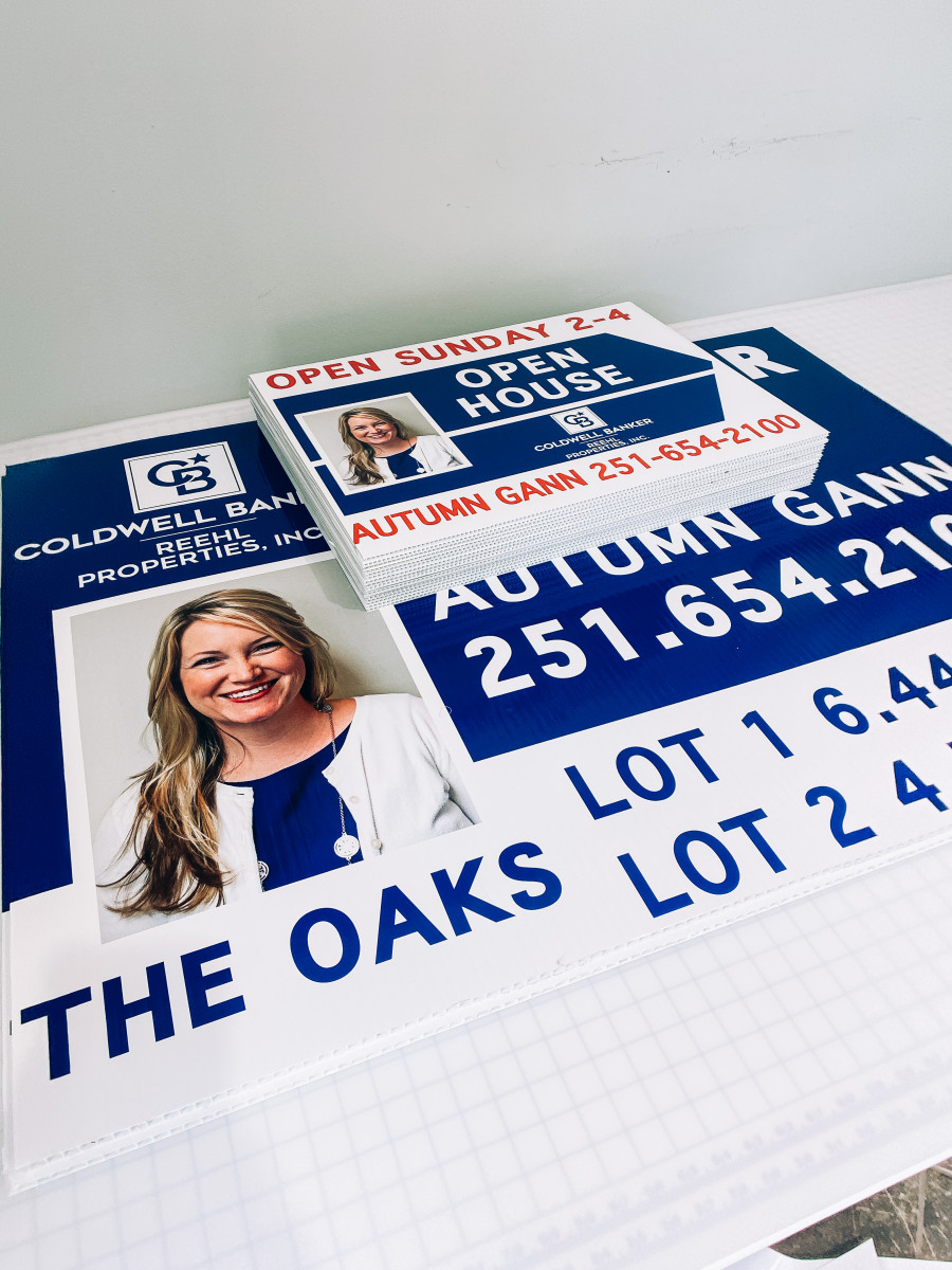 Real estate signs coroplast