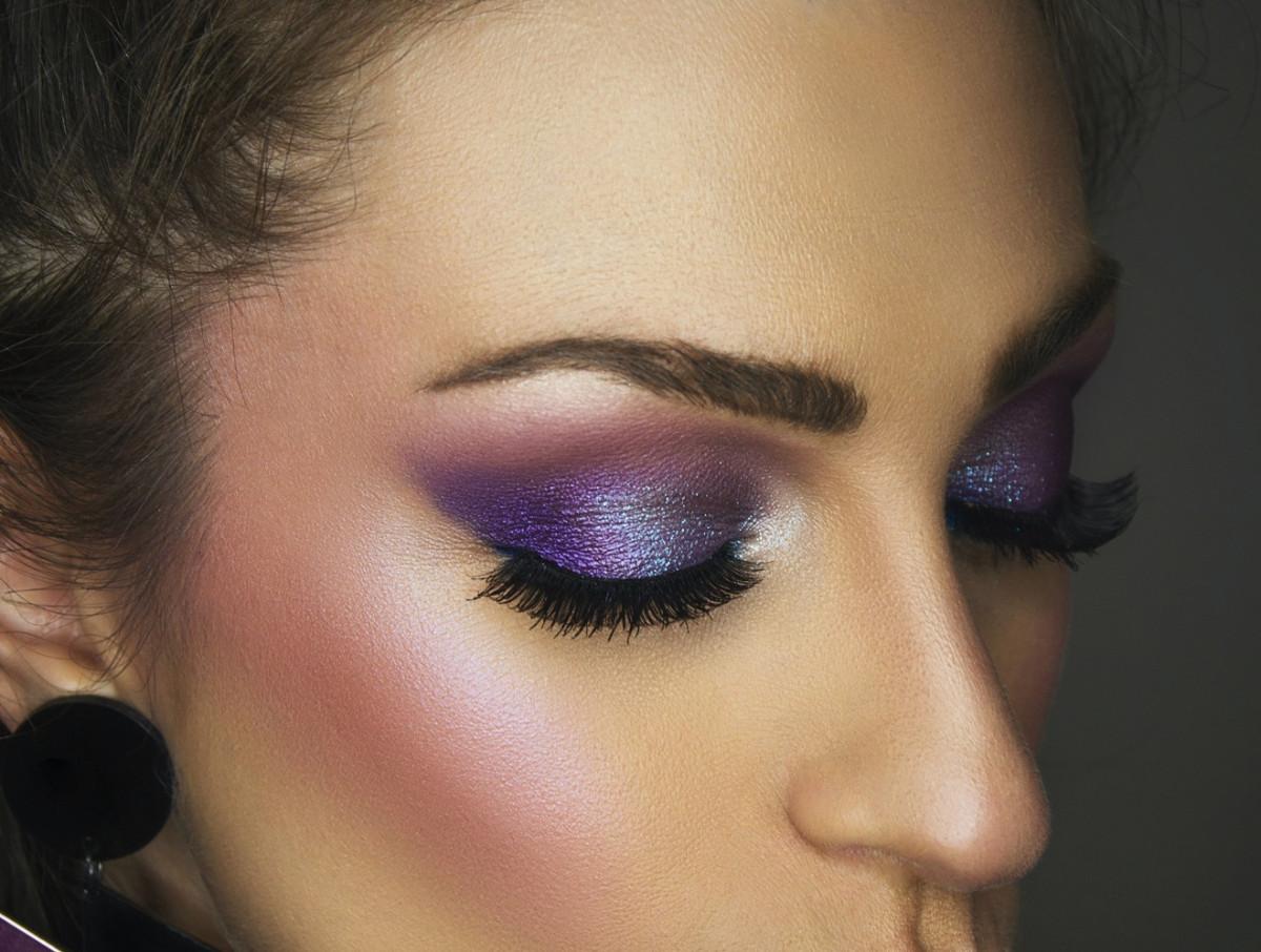 fall eyeshadow looks purple