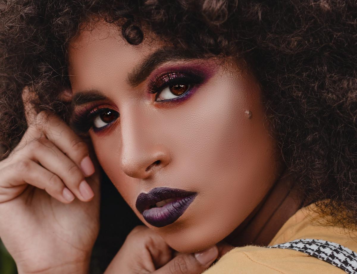 fall eyeshadow looks purple 2