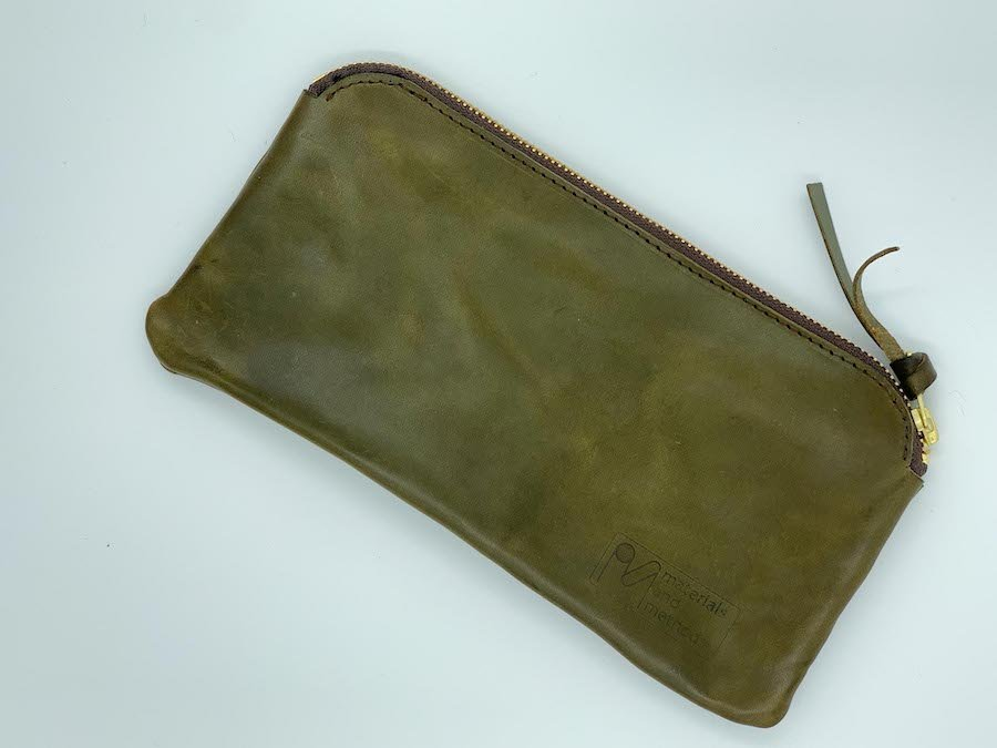 anatomy of a handbag - Casey clutch in olive leather