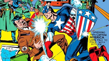 Image of Captain America Punching Hitler - Animated Apparel Company