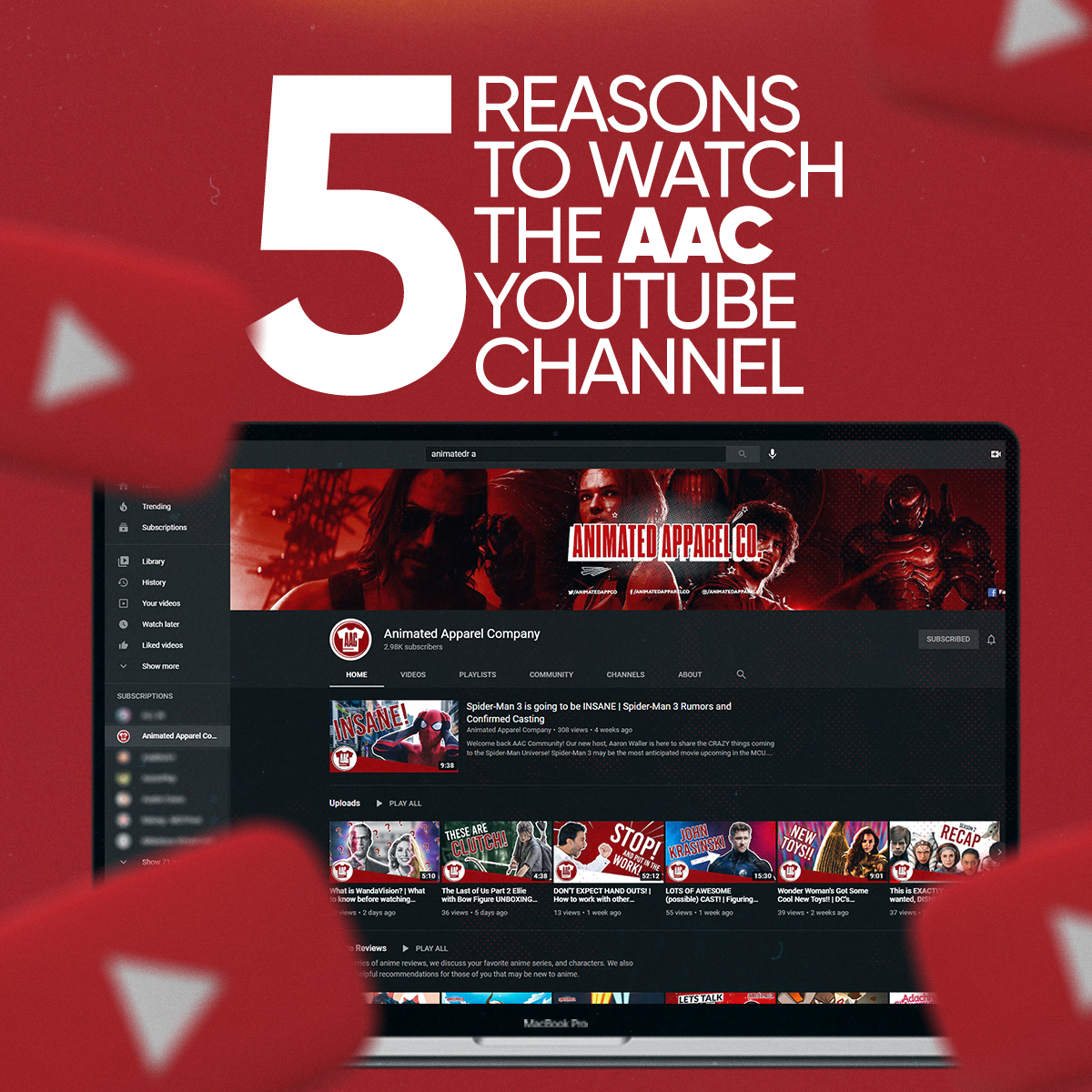 5 reasons you should check out our YouTube Channel!