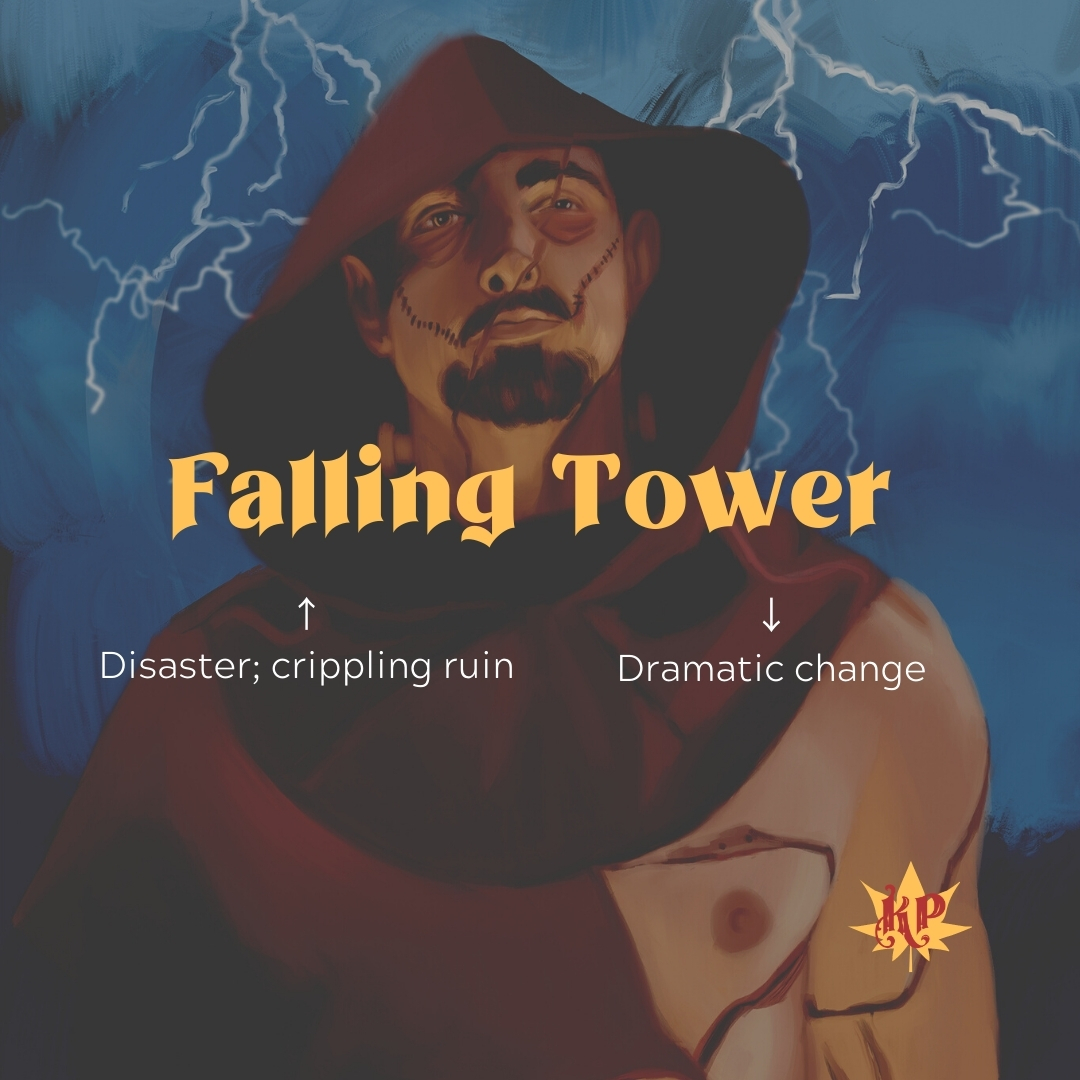 Falling Tower | CULT Tarot Card Meaning