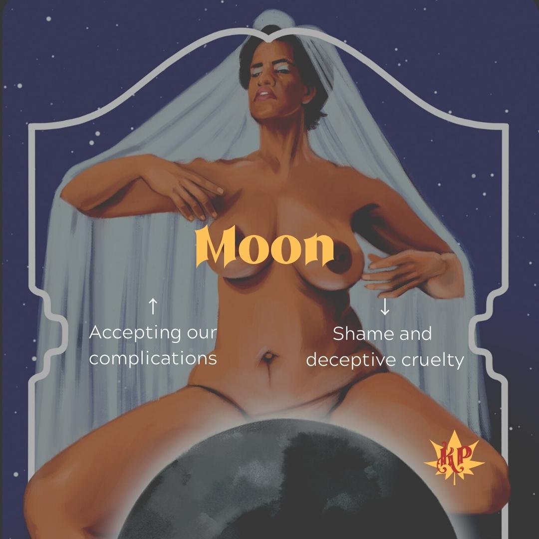 Moon   CULT Tarot Card Meaning