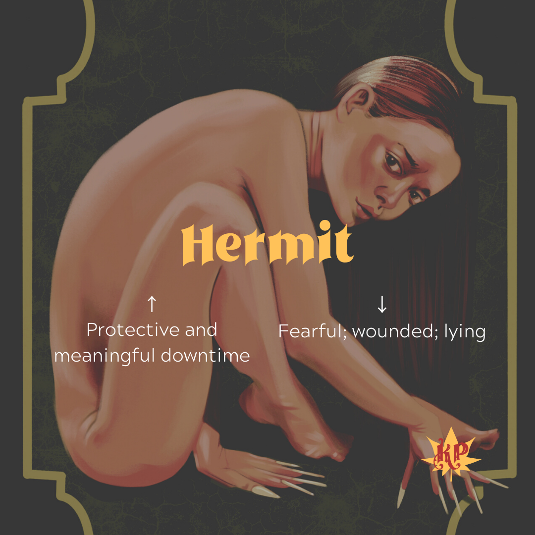 Hermit | CULT Tarot Card Meaning | Isolation