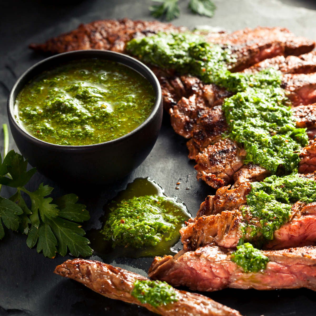 Picture of Grilled Flank Steak with Chimichurri