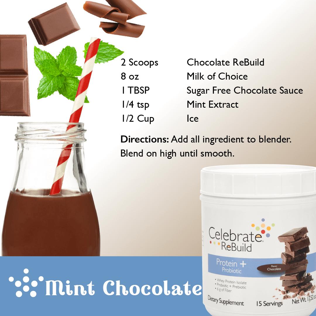 Frozen Mint Chocolate Protein Shake