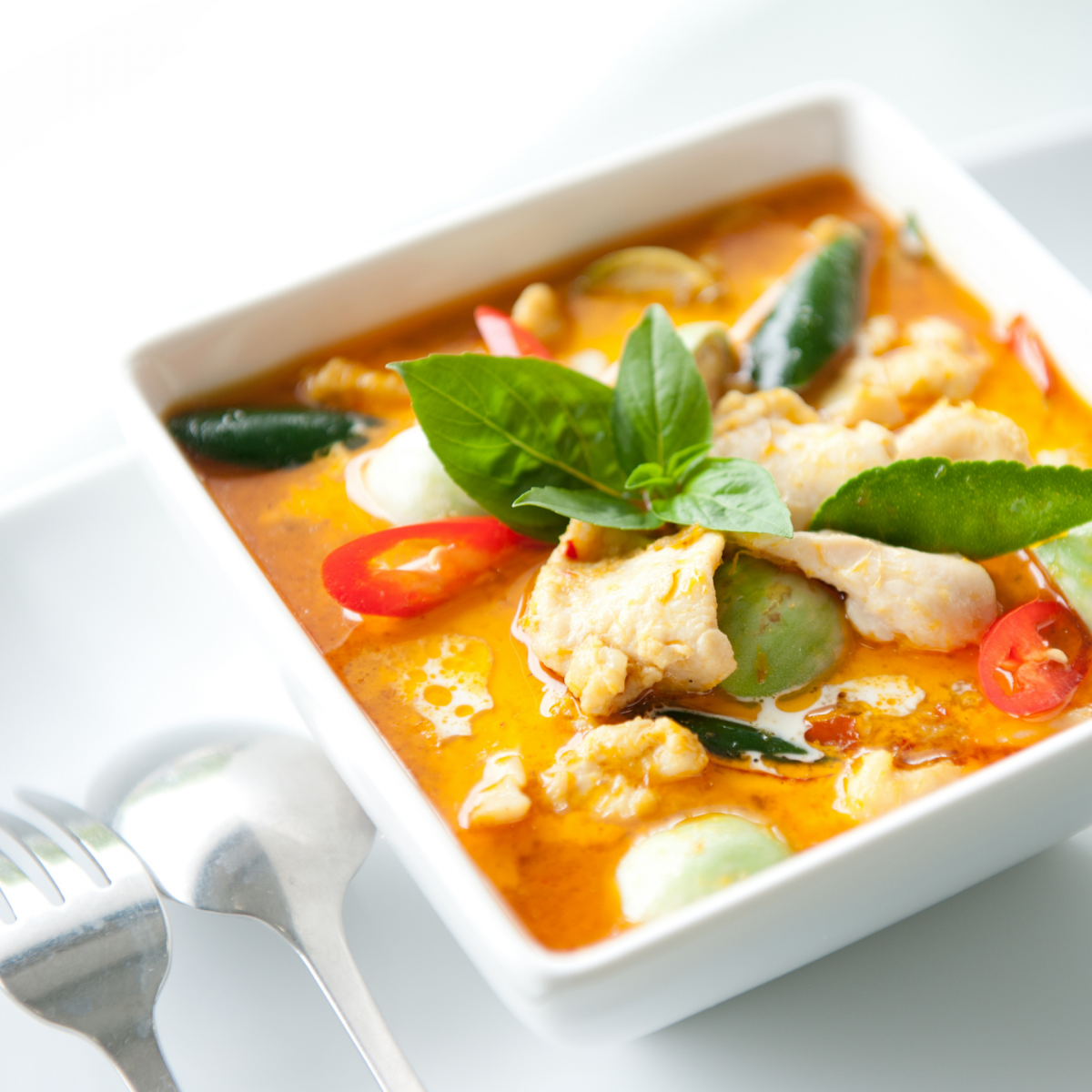 Picture Thai Red Curry Chicken and Vegetables