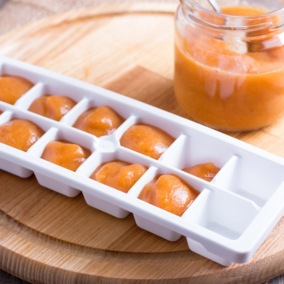 Picture of protein mix in an ice tray